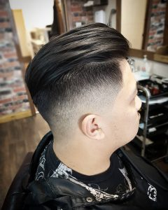 Feathered Slick Back and Undercut