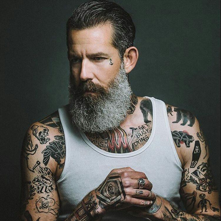 Admirable 25 Fresh Full Beard Styles Unapologetically Bold Short Hairstyles Gunalazisus