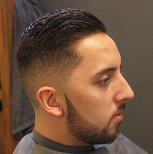 Simple Brushed Back Pompadour
