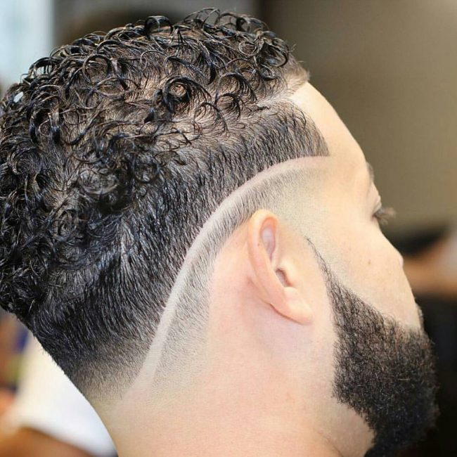 sleek-curls-with-a-sharp-fade