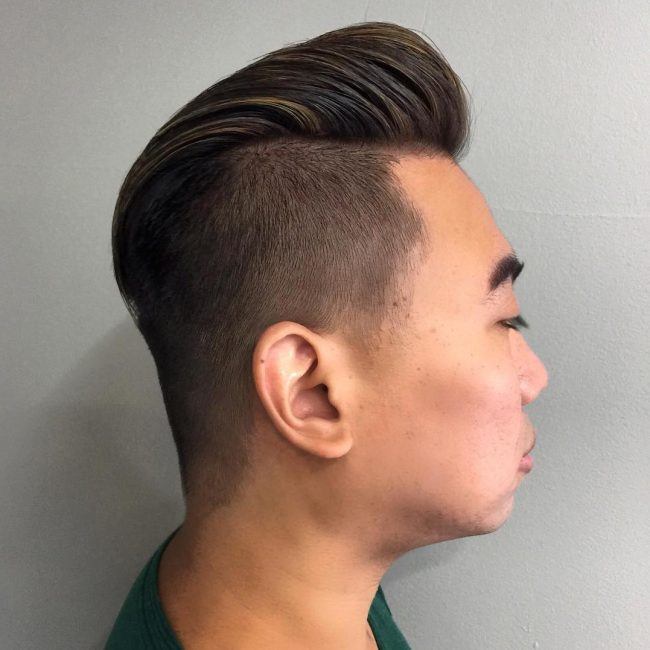 Traditional Pompadour Haircut with a Twist