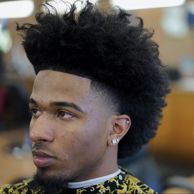 55 trendy hairstyles for black men best ideas 2017 10 tapered blow out mohawk urmus Image collections