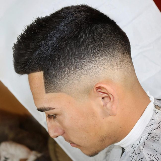 Shaped Bald Fade