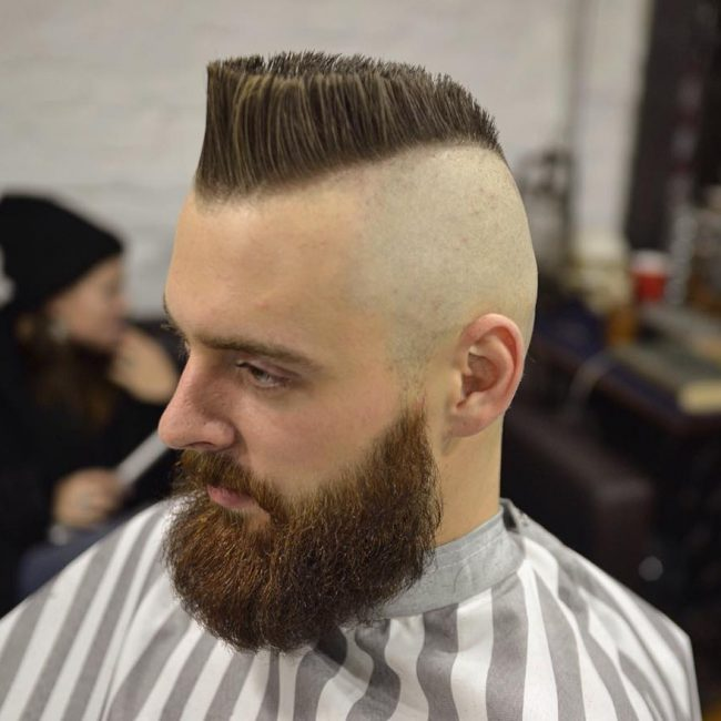 12 Flat Top With Buzzed Head