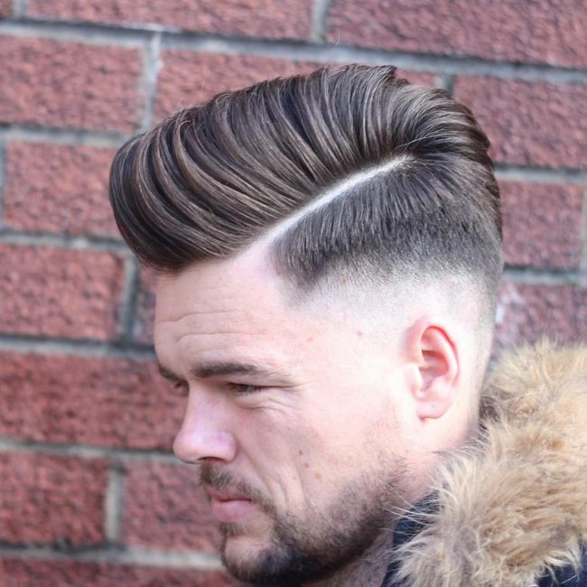 High Pomp Side Part