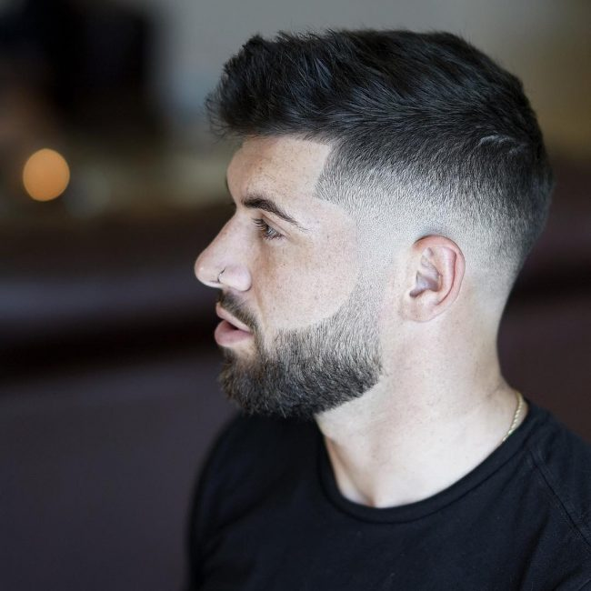 Textured Quiff with Taper