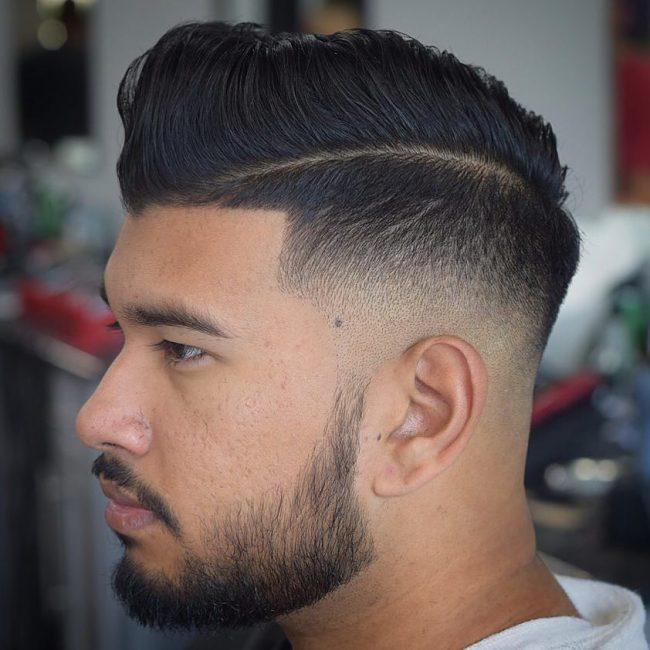 Retro Pomp with Bald Fade