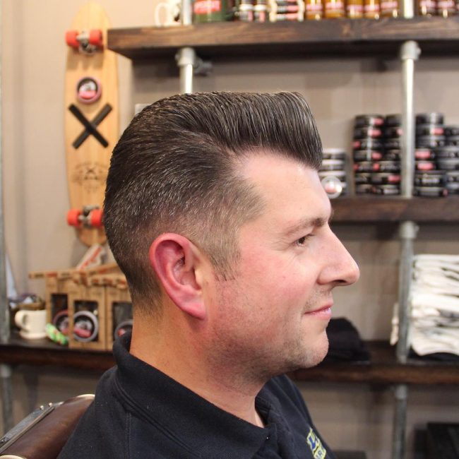 4 Flat Top with a Slight Quiff