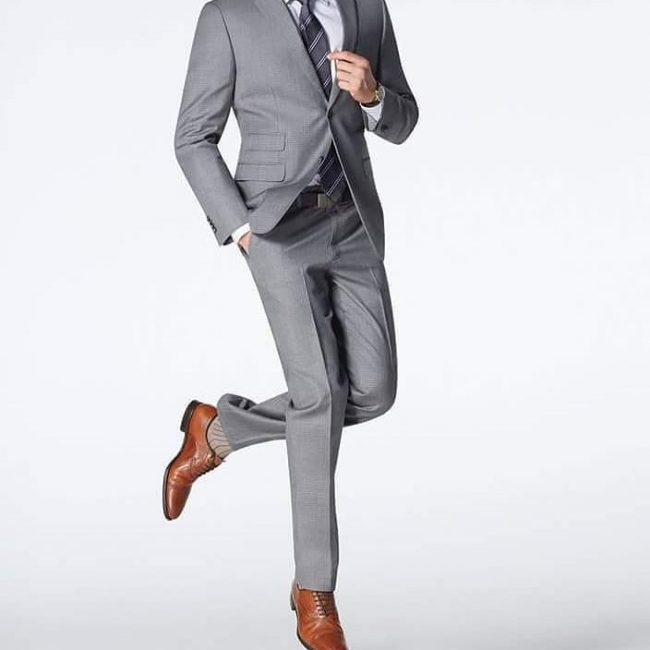 25 Cool Gray Suit and Brown Shoes Combinations - Style and Elegance