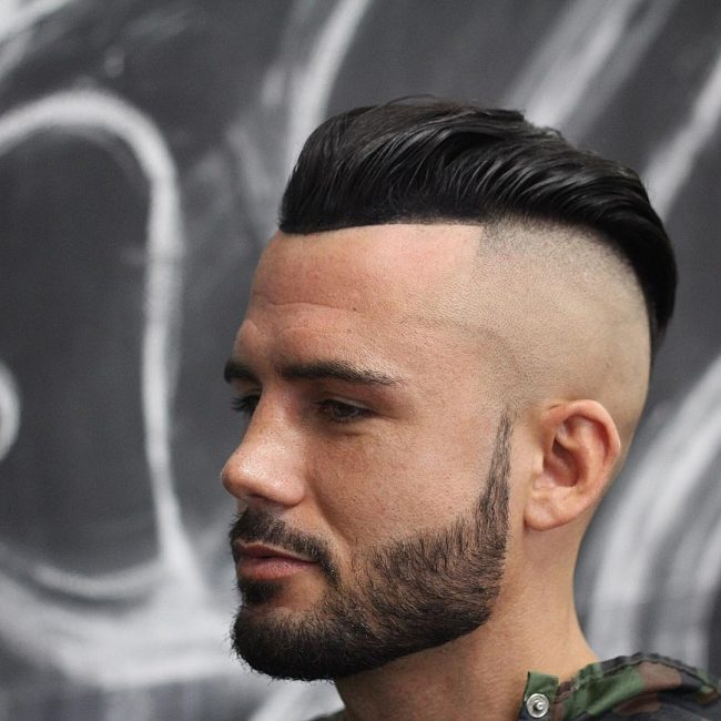 35 Slick Back Bald Fade