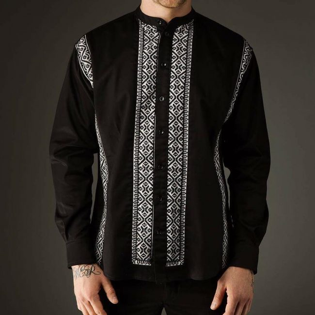 38-black-and-white-patterned-shirt