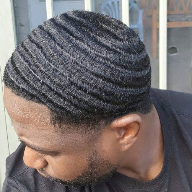 Taper Haircut Black Men Waves 82
