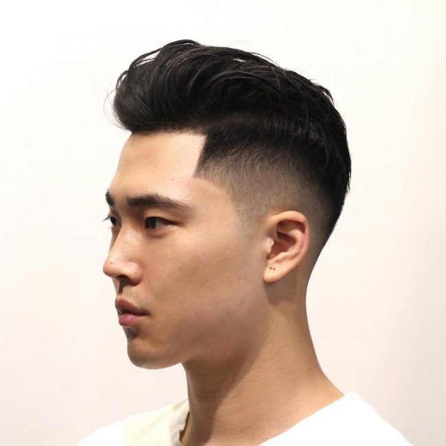 Haircut men medium asian
