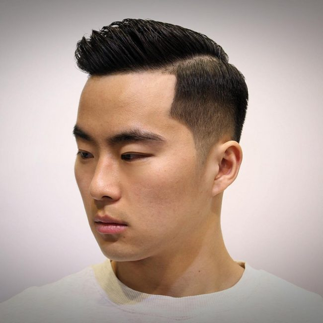 Image result for 16. Asian comb over fade. images