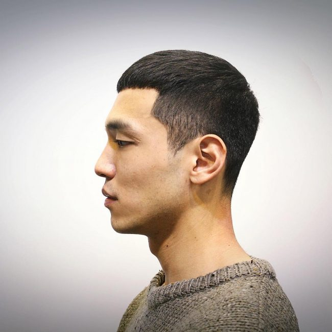 Short Undercut Men Asian