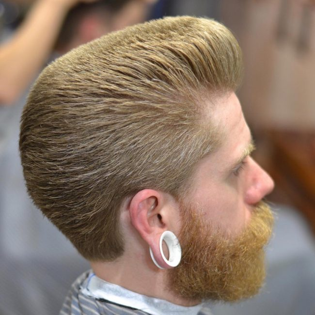 13 Blonde Flat Top with Beard
