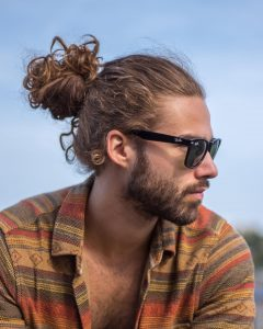 curly-man-bun