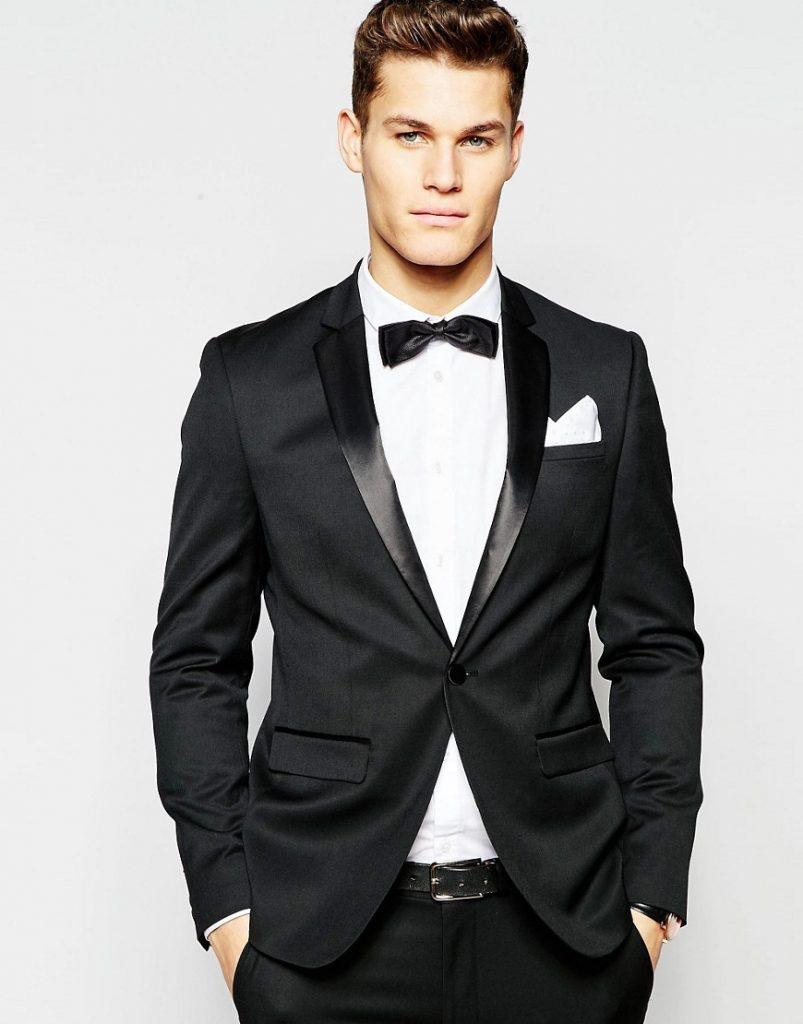 135.0 ASOS Skinny Tuxedo Suit Jacket in Black – Black 1a287caa80
