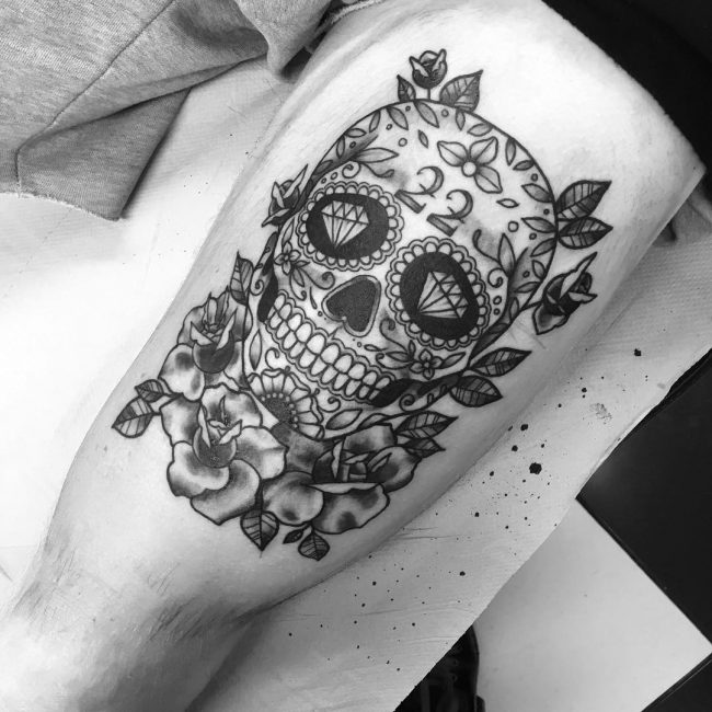 90 Magnificent Sugar Skull Tattoo Ideas Represent The Celebration Of Life