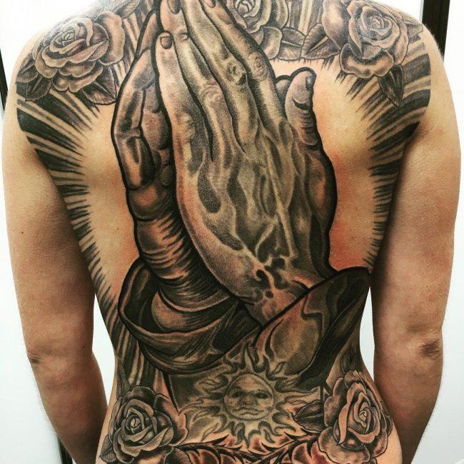 deaaa06967e33 60 Praying Hands Tattoo Designs - Show Devoutness and Religious Belief