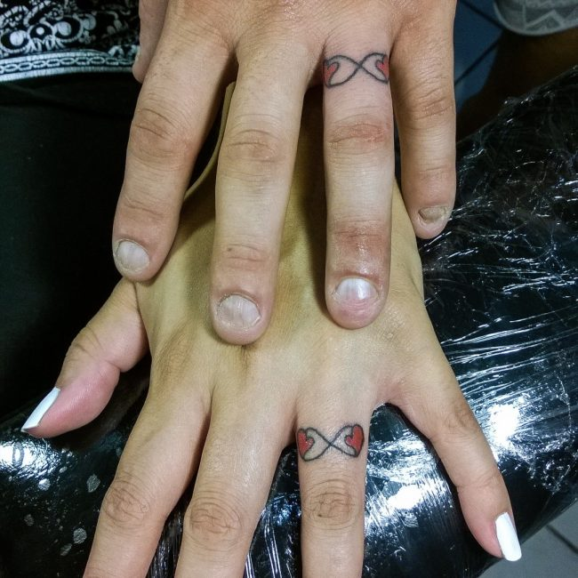 White Ink Tattoos Wedding Ring: 60 Hearwarming Wedding Ring Tattoo Ideas