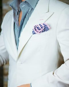 33 Pink Border Square on a White Jacket