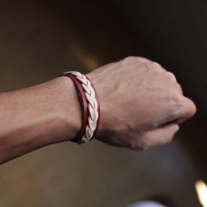 15-the-cream-and-maroon-braided-bracelet