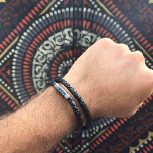 18-the-double-row-black-leather-bracelet