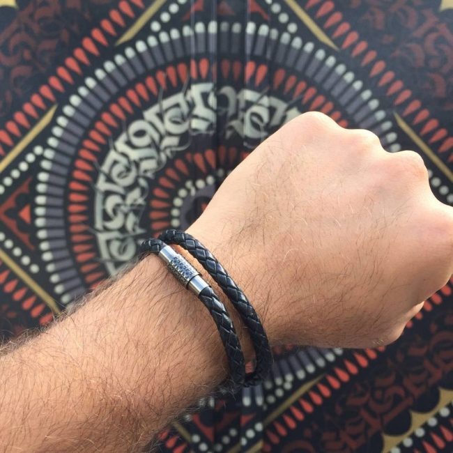 18-the-double-row-black-leather-bracelet