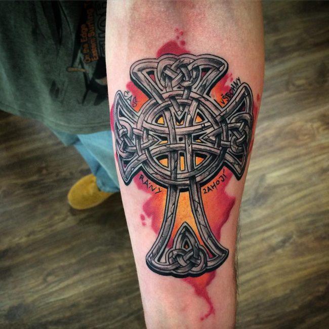 70 traditional celtic cross tattoo designs visual representation of faith. Black Bedroom Furniture Sets. Home Design Ideas