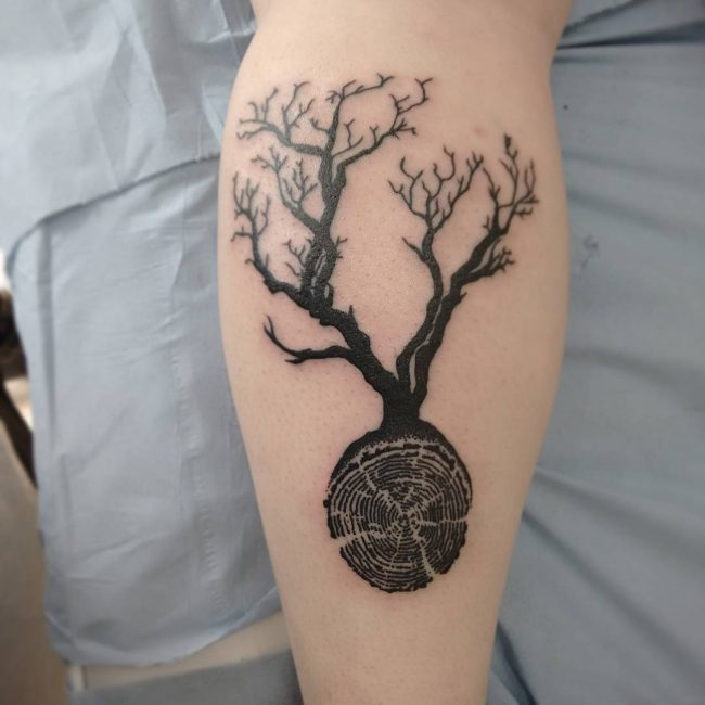Oak Tree With Roots Tattoo: 90 Significant Tree Tattoo Designs