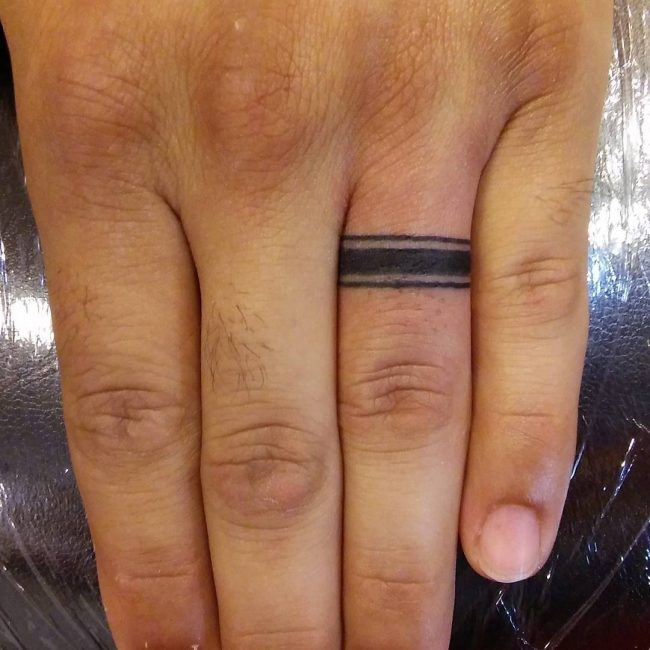 Wedding Band Tattoos For Men: 60 Hearwarming Wedding Ring Tattoo Ideas