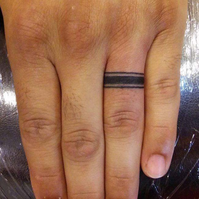 Wedding Band Tattoos For Men: 60 Hearwarming Wedding Ring Tattoo Ideas