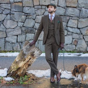 3-slim-fitting-brown-tweed-suit