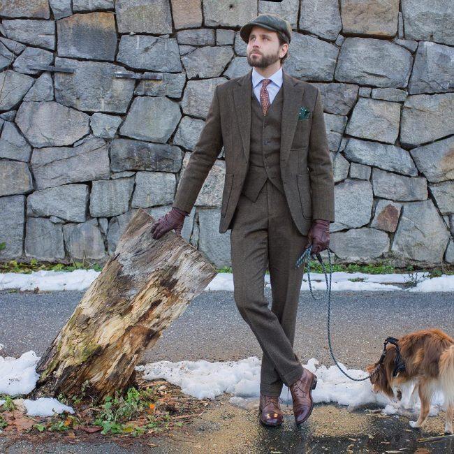 3-slim-fitting-brown-tweed-suit