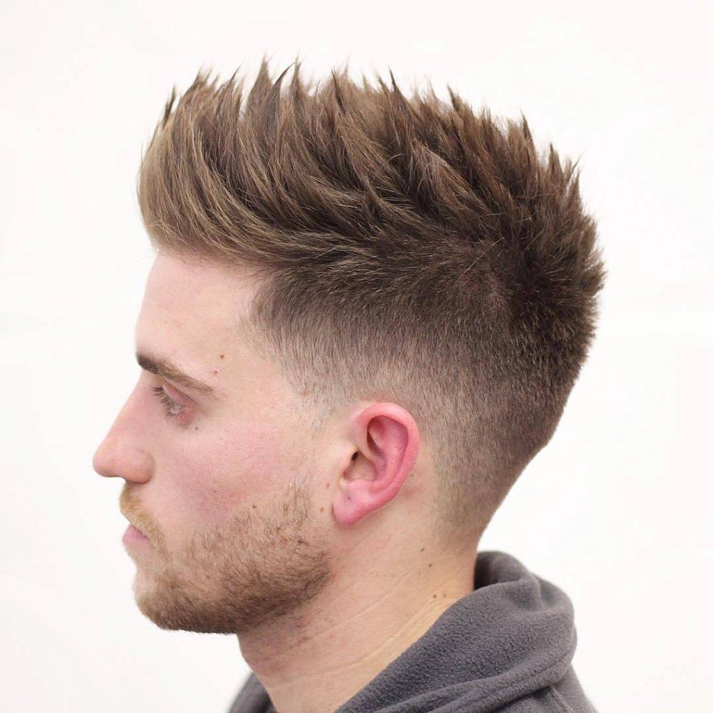 Как поднять короткие волосы вверх мужчине