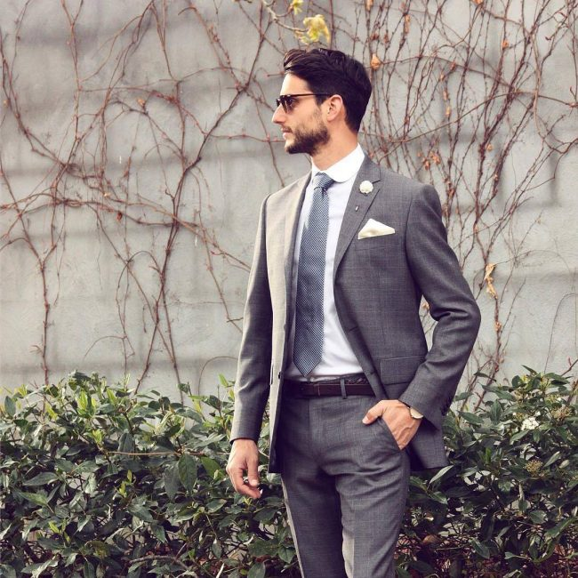 40 Handsome Grey Suit Outfits Feel Smart And Confident