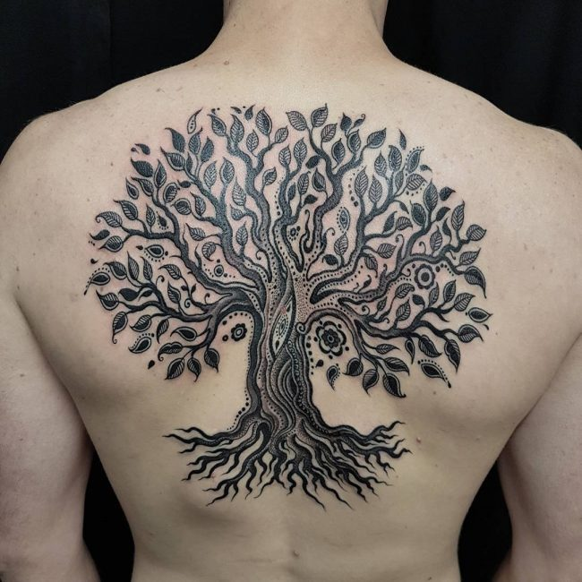 90 significant tree tattoo designs know your roots. Black Bedroom Furniture Sets. Home Design Ideas