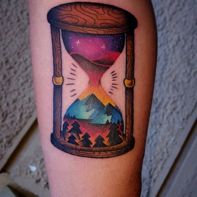 65 Popular Hourglass Tattoo Designs The Depiction Of Life And Death