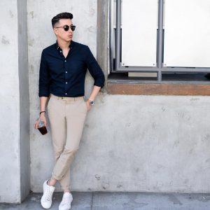 46-folded-khaki-pants-with-a-black-shirt