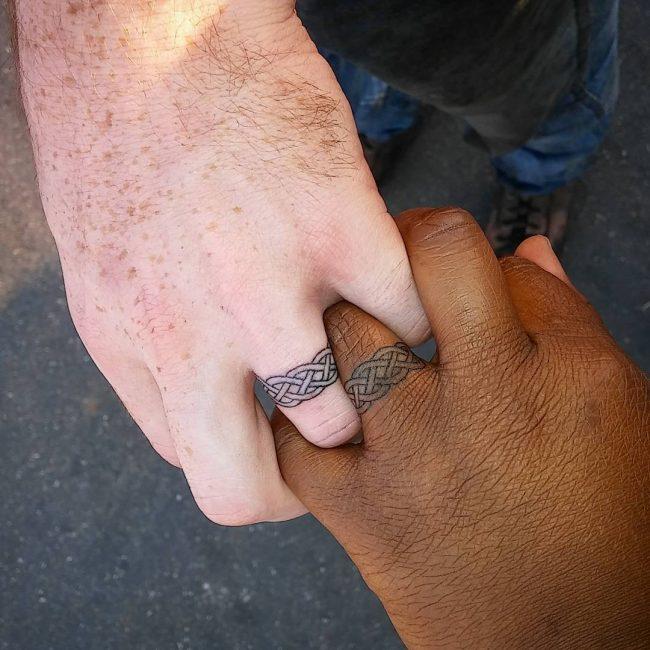 Christian Wedding Ring Tattoos: 60 Hearwarming Wedding Ring Tattoo Ideas
