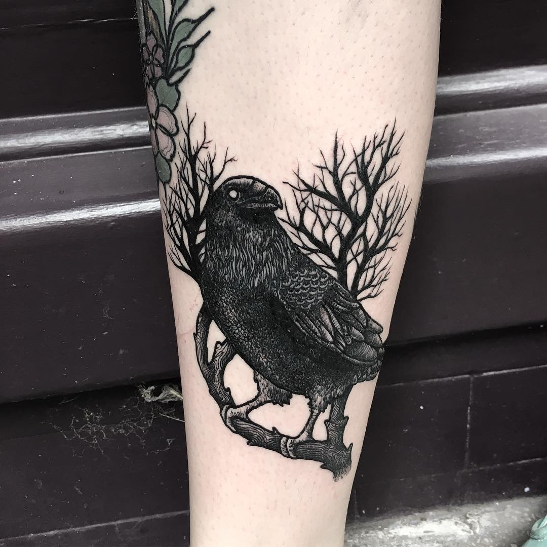 80 Beautiful Raven Tattoo Designs Select Yours Today
