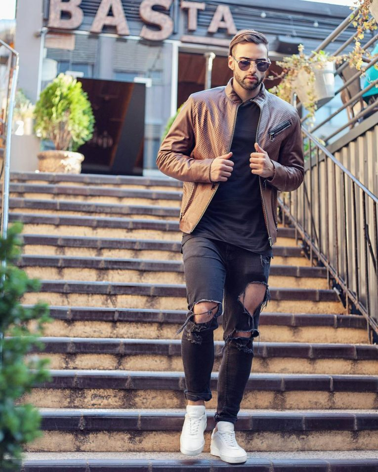 Brown Leather Jackets 40