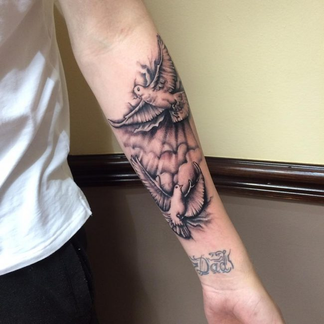 83136845b 60 Dove Tattoo Designs for Men - A Bird of Great Significance
