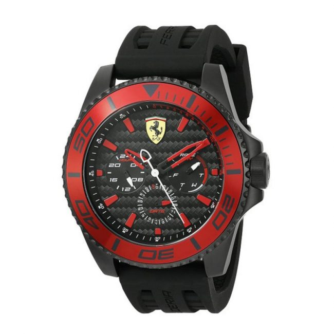 ferrari-mens-xx-kers-quartz-stainless-steel-and-silicone-casual-watch-color-black-model-0830310