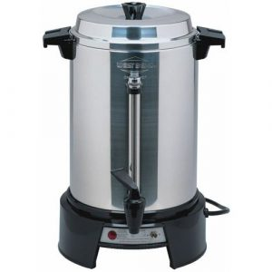 focus-foodservice-58055r-regalware-commercial-aluminum-coffeemaker-with-non-drip-spigot-55-cup