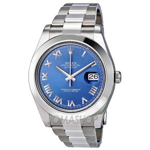 rolex-datejust-ii-41-blue-azzurro-roman-dial-steel-mens-watch-116300