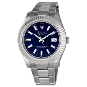 rolex-datejust-ii-blue-index-dial-fluted-18k-white-gold-bezel-oyster-bracelet-mens-watch-116334blso
