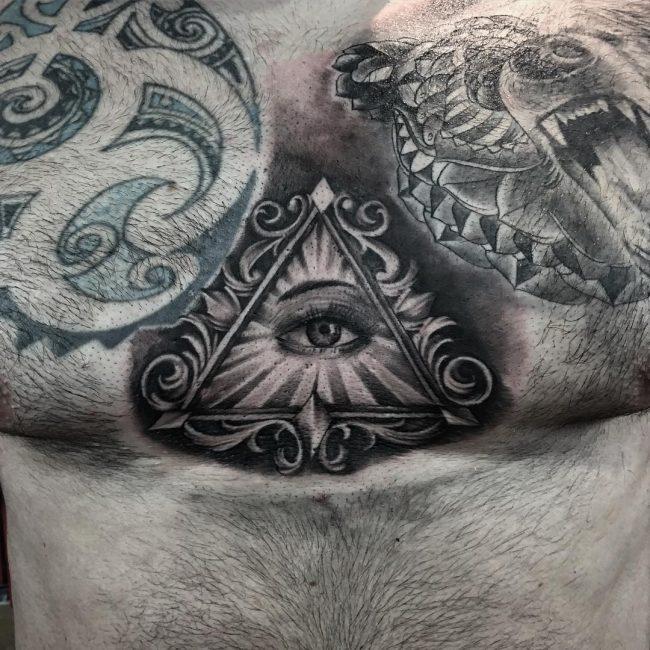 Pyramid Eye Tattoo: 50 Mysterious All Seeing Eye Tattoo Ideas