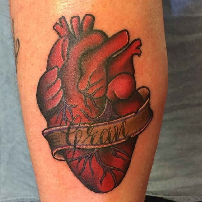 45 Beautiful Anatomical Heart Tattoo Designs-The Art Of